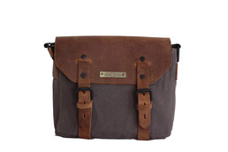Margelisch Canvas Messengerbag mit eco-Leder Applikationen