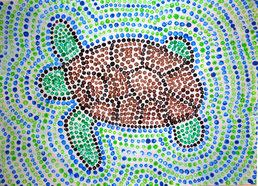 Schildkröten aus Punkten