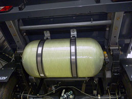 Autogas-Tank bei kleinen Nutzfahrzeugen