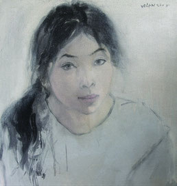 纪录肖像3 DIARY PORTRAIT III 60X60CM 布面油画 OIL ON CANVAS 2005