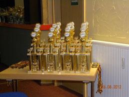 Pokale für die Sieger