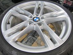 BMW640iクーペ・カブリオレの20インチ純正アルミホイールの、ガリキズ・擦り傷・欠けのリペア(修理・修復・再生)後のホイールアップ写真⑥