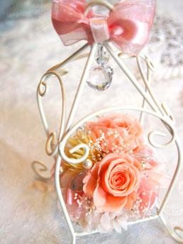 プリザーブドフラワー,お城,ワイヤー,アレンジメント,花祝電,電報,かわいい