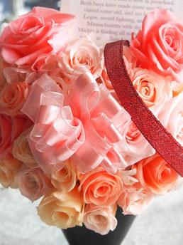 プリザーブドフラワー,ハート,お祝い,大きいサイズ,ピンク,アレンジメント,舞台,女性,ギフト