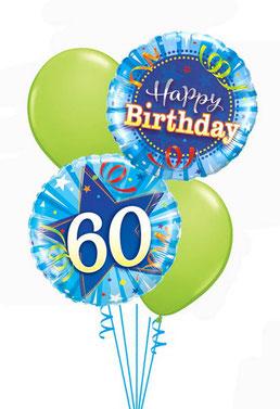Ballon Luftballon Zahl Folienballon Latexballon Heliumballon Geschenk Happy Birthday Geburtstag 20 30 40 50 60 blau grün Mann Frau Party Überraschung Mitbringsel Deko Dekoration Geschenk