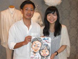 福島県に似顔絵師がイベントに出張