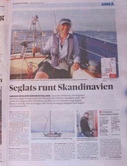 Charlotte im Västerbottens Kuriren, S.11, 27.08.2015