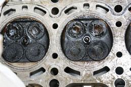 Motor verkokt und verölt: zu hoher Ölverbrauch.