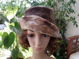 chapeau en laine naturelle mouton et lama marron