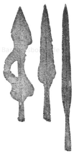 keltische Lanzenspitzen und Speerspitzen