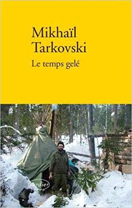 Couverture Le temps gelé Chronique littéraire autobiographie amour enfer humaniste poesie guillaume cherel
