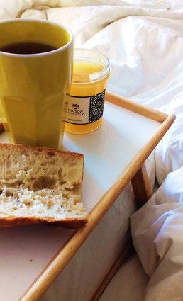 petit dejeuner confiture poire