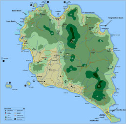 Koh Phangan Karte