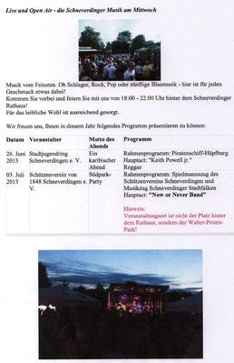 """Kultur am Mittwoch"" Schneverdingen 2013"