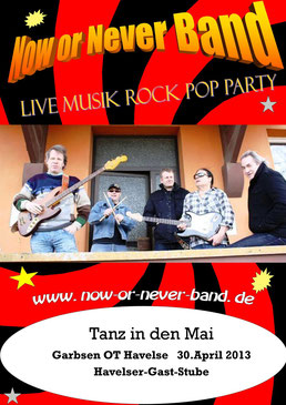 Party mit der Now or Never band