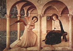 1440年代 壁画(フレスコ)230×321cm          フラ・アンジェリコ作