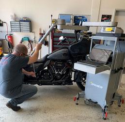 3D - Rahmenvermessung Motorrad