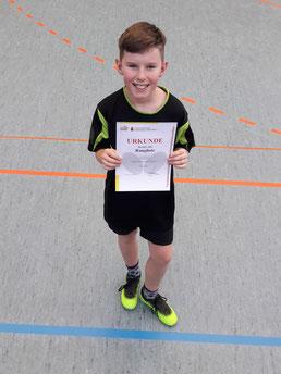 Leon Fröhlich hat bei der Jugend U13 alle Spiele gewonnen, und somit den 1. Platz belegt.
