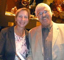 Barbara Vonarburg und Arthur Kammer an der Vernissage