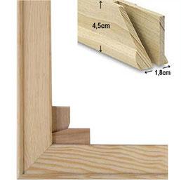 2 cm Holzkeilrahmen für Leinwanddruck im Wunschformat als Bausatz bestellen