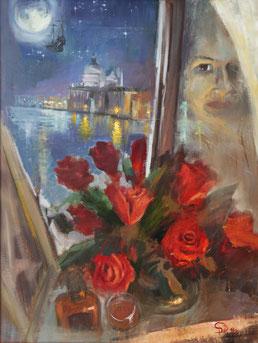 "Dolondutsky Alexandr , ""Abschied nehmen"", Öl auf Leinwand, 60 x 80 cm, 2012, gerahmt"