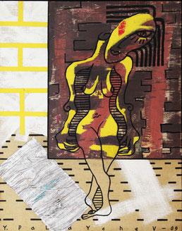 """Palaychev Yuri, """"Unbekannte Frau"""", Öl auf Leinwand, 66 x 85 cm, gerahmt"""