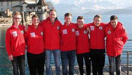 Das U16 Team des BÖE mit Betreuer Stefan Mooswalder