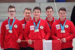U16 Mannschaft mit Lukas Reiter, Jakob Freydl, Michael Regenfelder, Markus Karl und Jakob Solböck