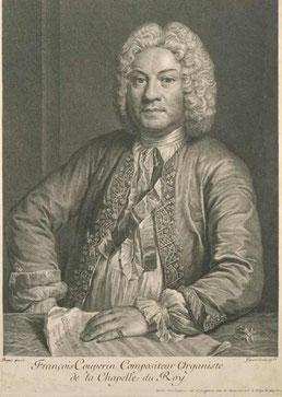 François Couperin, gravure de Jean-Jacques Flipart (1735), d'après André Bouys (....-1740).