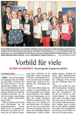 AZ Mainz vom 15.6.2013 (zum Vergrößern klicken)