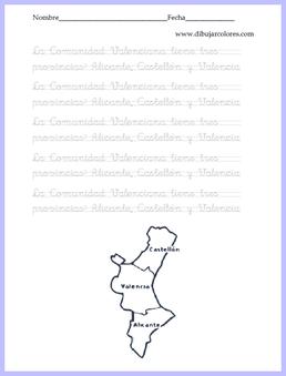 caligrafía comunidad valenciana