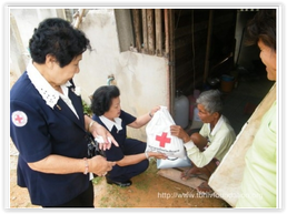 Ladies Volunteers Against TB group's member visit patient home and contributed necessary living items.