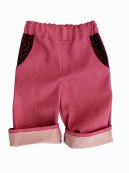 rosa Jeanshose für Kinder, faire Mode, Herzkind, Berlin