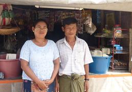 Dieses Paar hat von PASDB einen Mikrokredit von 50 €