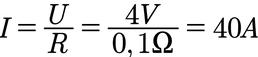 Beispiel für die Berechnung der Stromstärke