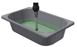 Dopo aver effettuato tutti i collegamenti elettrici inumidire il pennello installato sulla torcia immergendolo interamente nella soluzione elettrolitica versata in un contenitore di plastica resistente agli acidi.