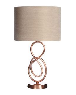 Lámpara sobremesa acabado cobre