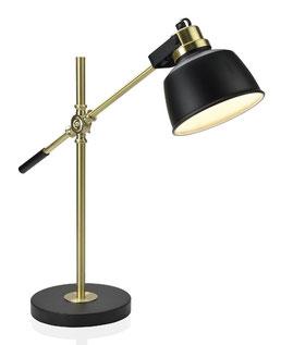Lámpara flexo dorado y negro