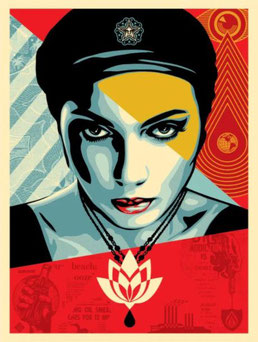 Shepard Fairey, Oil Lotus Women, 2018