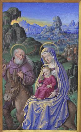 Grandes Heures d'Anne de Bretagne. Enluminure de Jean Bourdichon – Bnf Lat. 9474 - f°76v.