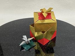 講習作品(予定)バラ咲きアジサイキューブ
