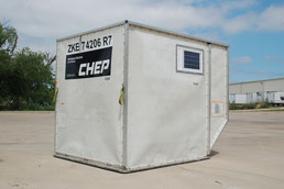 CHEP's GPRS tracking device for Unit Load Devices, here seen at a container