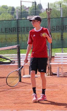 Luca Sparhuber sorgte mit seinen Siegen im Einzel und Doppel für wichtige Punkte