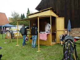 die APfEL-Hütte beim ersten Einsatz