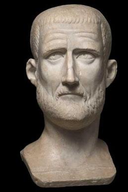 Ritratto colossale di Probo, 276-282 d.C. - Musei Capitolini, Palazzo Nuovo Roma, Italia © Foto di Zeno Colantoni