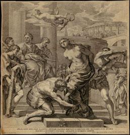 ASR, Incisione di Pietro da Cortona per la chiesa di Santa Bibbiana (sec. XVII)