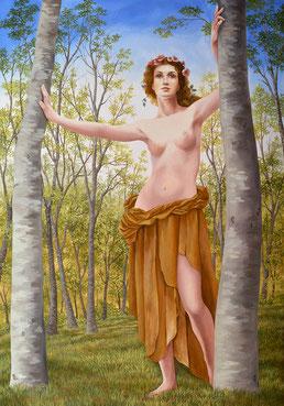 Spring, Painting by Irma Fiorentini - Fiorentini Design, Classical Murals, Wallpaper Borders