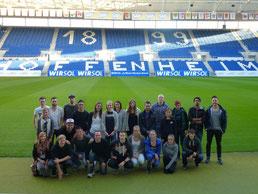 Sportmanagementstudenten vom Bodensee Campus zu Besuch bei der TSG Hoffenheim