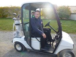 Exkursion zum Golfclub Schloss Langenstein mit Studenten aus dem Studiengang Sport- und Eventmanagement