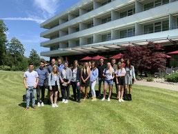 Unsere Studierenden aus dn Studiengängen Gesundheits- und Tourismusmanagement sowie Wirtschaftspsychologie zu Besuch im Kurhotel Oberwaid.